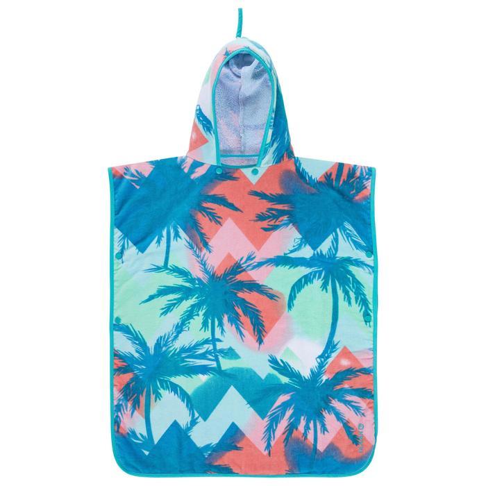 Poncho Toalla Playa Surf Olaian Sweet Niño Azul Estampado Cambiador