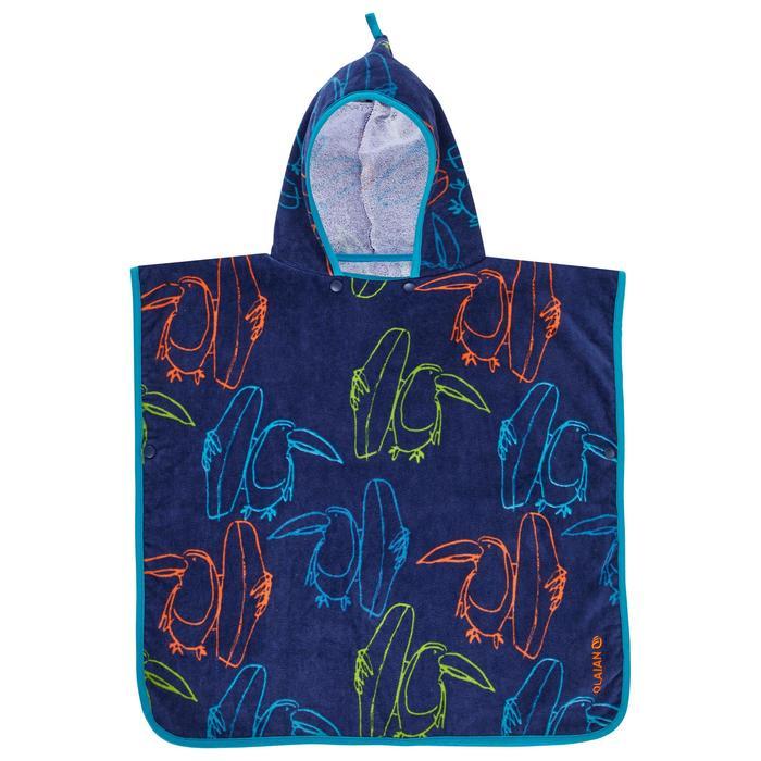 Surfponcho voor kinderen van 110 tot 125 cm Toucan