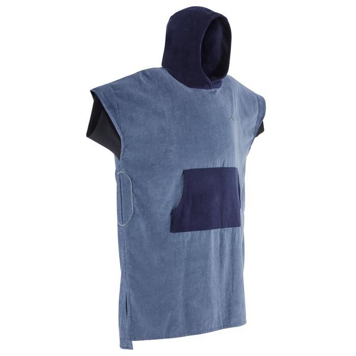 成人款衝浪毛巾衣500-灰色