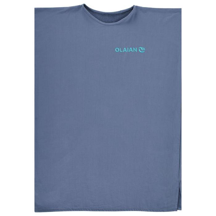Poncho Toalla Playa Surf Olaian 100 Adulto Gris Azul Cambiador