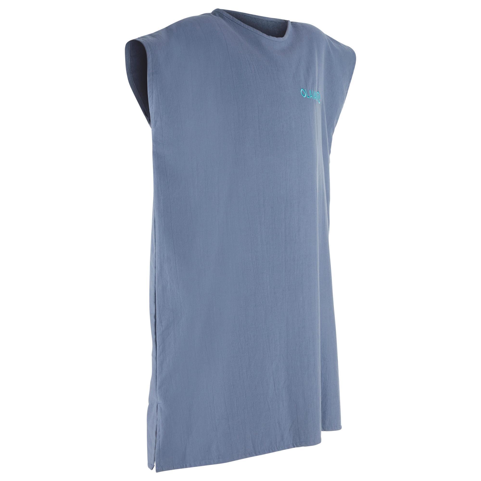 Surf-Poncho 100 Erwachsene blau | Bekleidung > Pullover > Ponchos & Capes | Grau - Blau | Olaian