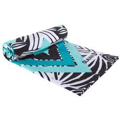 Toalla Playa Surf Olaian Azul Estampado Algodón Grande