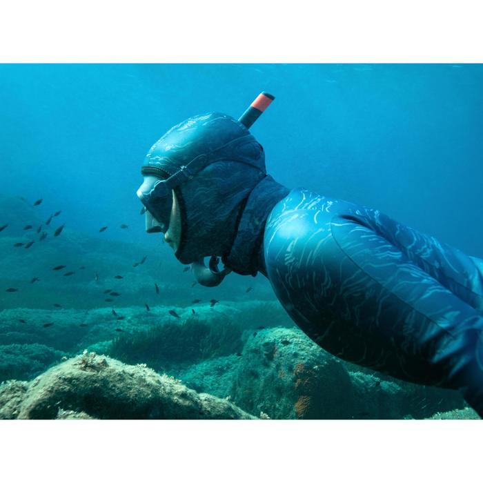 Tuba freediving FRD 500 souple gris tempête