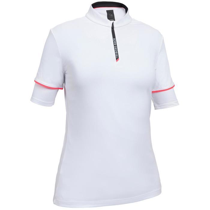 T-Shirt de voile femme Race 100 blanc