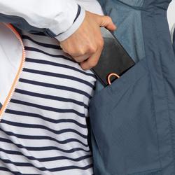 Veste imperméable de voile femme SAILING 100 Gris blanc