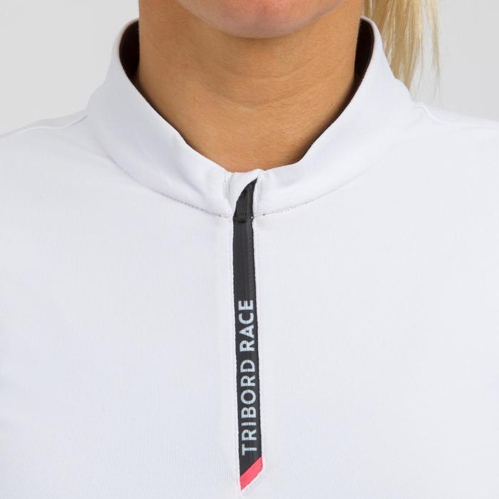 Damesshirt voor wedstrijdzeilen Race 100 wit