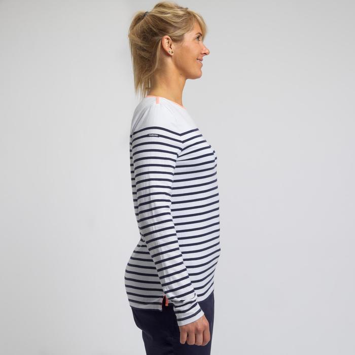 Camiseta de manga larga de vela mujer SAILING 100 Blanco azul