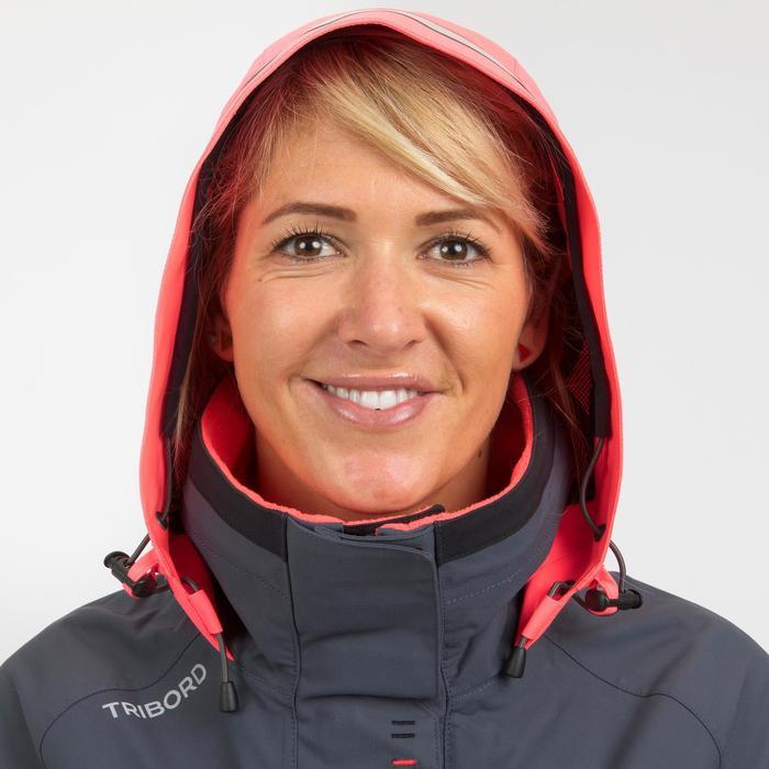Cazadora Regata Náutica Race 500 Mujer Gris Rosa