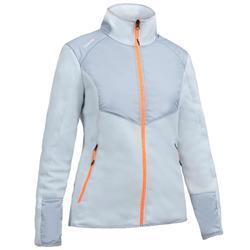 女款保暖航海刷毛外套Sailing 500-麻灰色