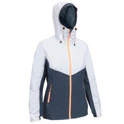Zeiljas - regenjas voor dames Sailing 100 grijs/wit