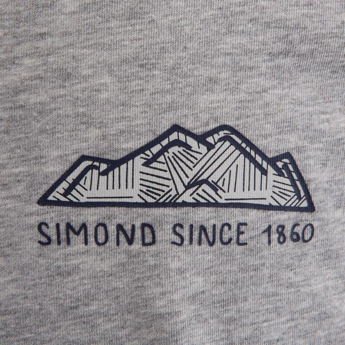 Kletter-T-Shirt Kinder Kurzarm grau
