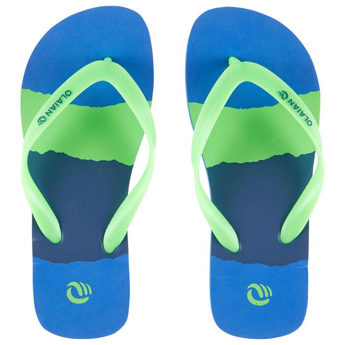 Chanclas De Playa Surf Olaian TO 120 Niño Azul Verde