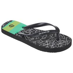 Chanclas De Playa Surf Olaian TO 120 Niño Negro Verde