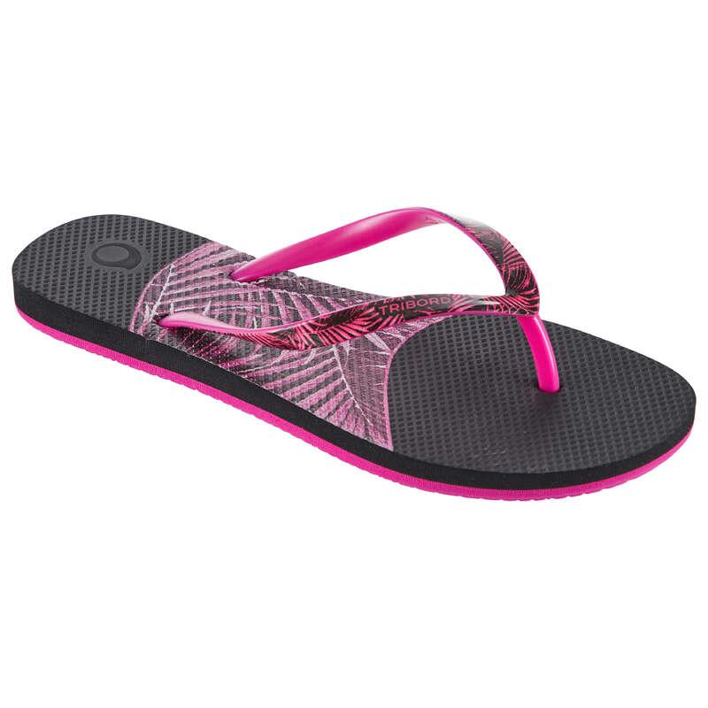 Női papucs Strand, szörf, sárkány - Női pántos papucs 500 Palmo OLAIAN - Bikini, boardshort, papucs
