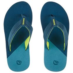Chanclas De Playa Surf Olaian TO 550 Niño Azul Verde