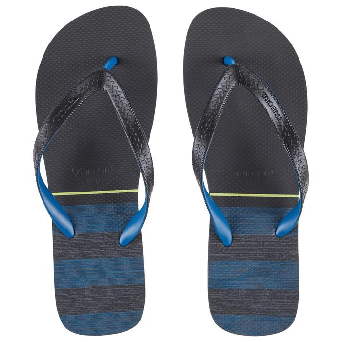 Chanclas De Playa Surf Olaian TO 500 Hombre Azul Negro