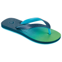 BOYS' FLIP-FLOPS 500 - SUNSET GREEN
