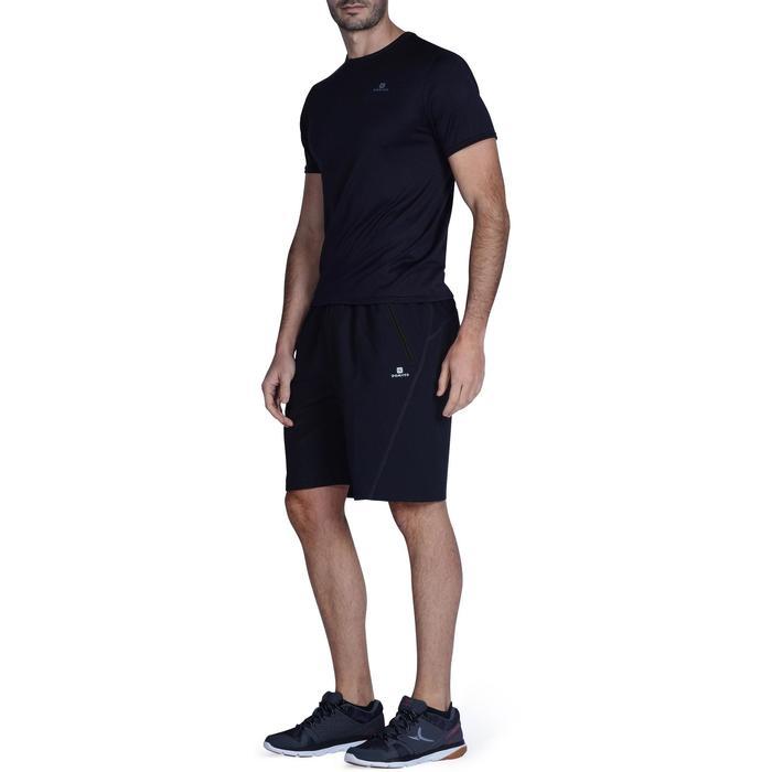 Sporthose knielang FTS120 Fitness-/Cardiotraining Herren schwarz