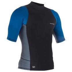 Top Protección Solar Playa Surf Olaian Hombre Azul Negro Gris ANTI-UV