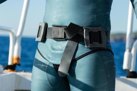 Sabuk pemberat freediving FRD500 terbuat dari karet