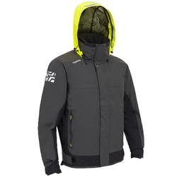 Race 500 Men's boat regatta Anorak - grey yellow