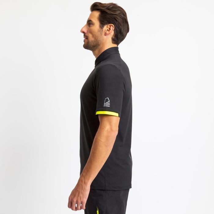 Herenshirt voor wedstrijdzeilen Race 100 zwart/geel