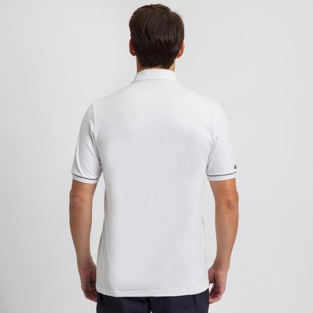 Sailing 100 Men's Sailing Short Sleeve Polo Shirt - White