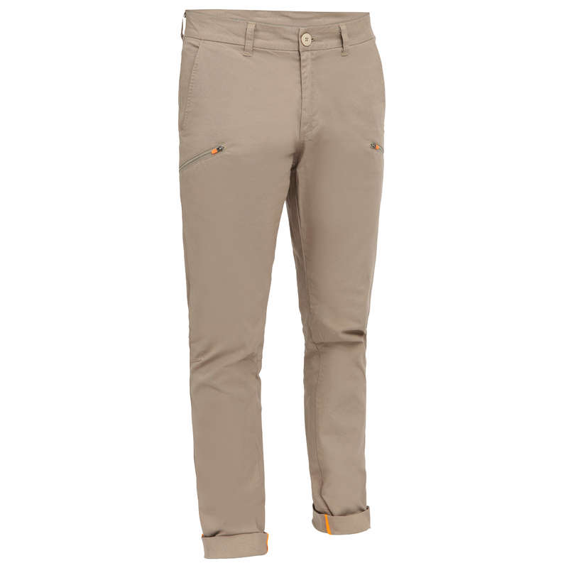 CRUISING WARM WEATHER MAN CLOTHES Sailing - Sailing 100 M Trousers - Beige TRIBORD - Sailing Clothing