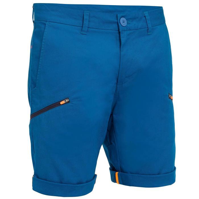 Robuuste herenbermuda Sailing 100 voor zeilen blauw