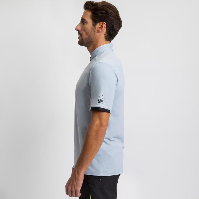 Men's boat regatta racing t-shirts grey / black