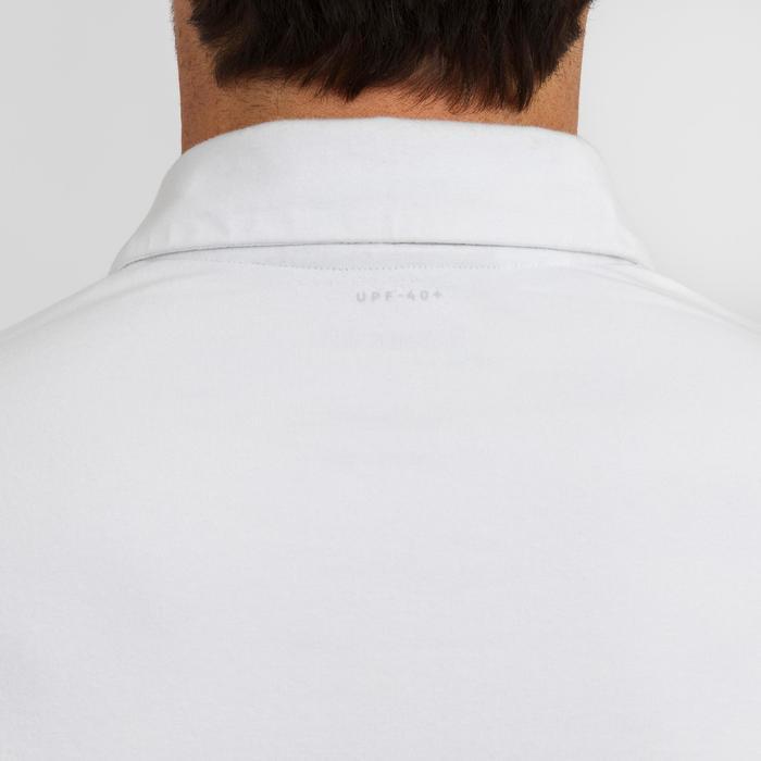Polo manche courte de voile homme SAILING 100 Blanc