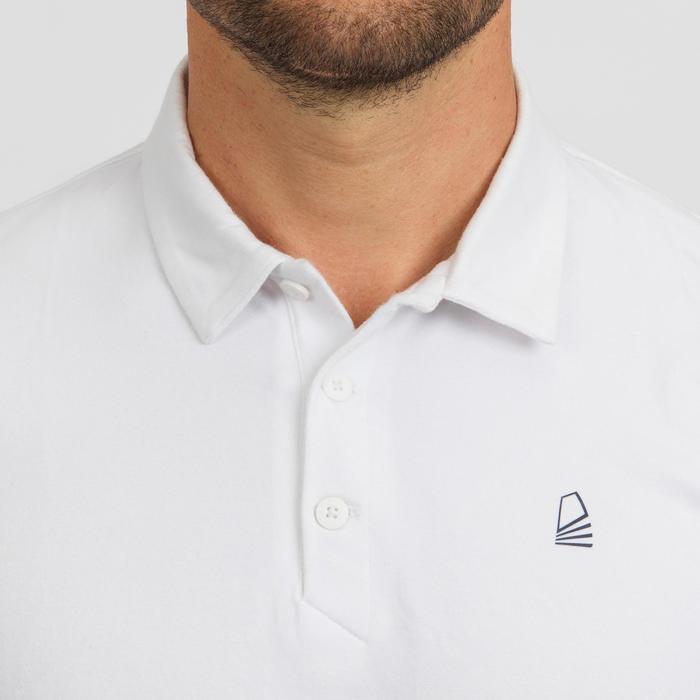 Polo manga corta de vela hombre SAILING 100 Blanco