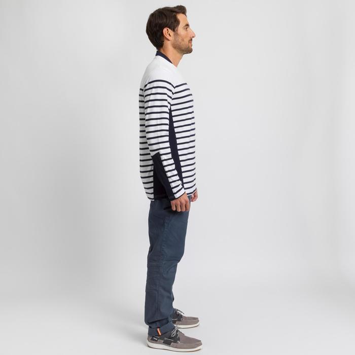 Camiseta Marinera Manga Larga Náutica Barco Vela Tribord Sailing100 Hombre Blanc