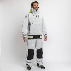 Zeiljas smock jacket voor heren voor wedstrijdzeilen Offshore 900 grijs
