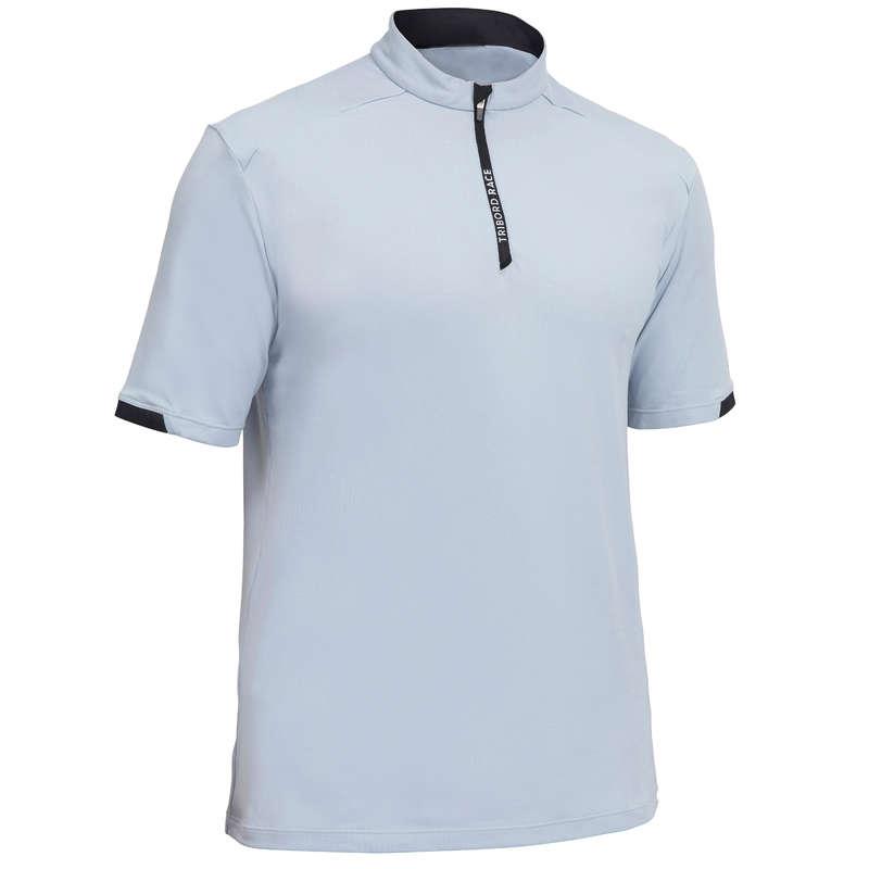 REGATTA WARM WEATHER MAN CLOTHES Sailing - Men's T-Shirt Race Grey/Black TRIBORD - Sailing Clothing