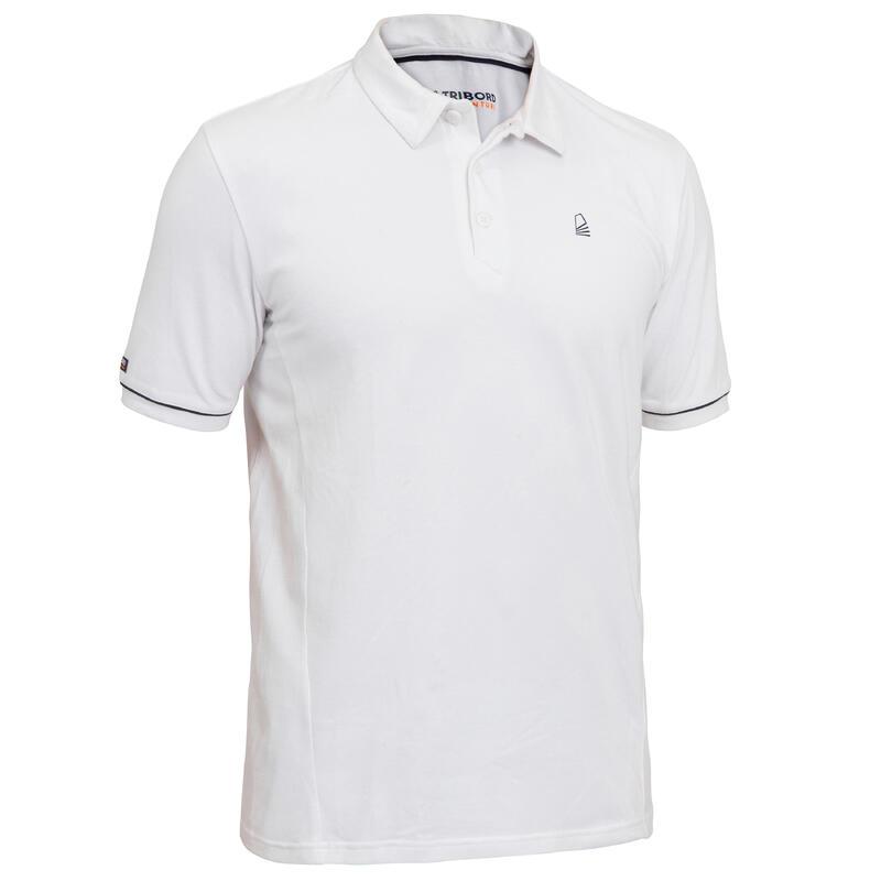 Erkek Kısa Kollu Polo Tişört - Beyaz - SAILING 100