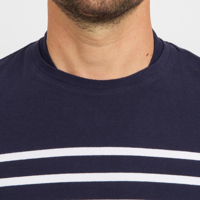Camiseta Marinera Manga Larga Náutica Barco Vela Tribord Sailing100 Hombre Azul