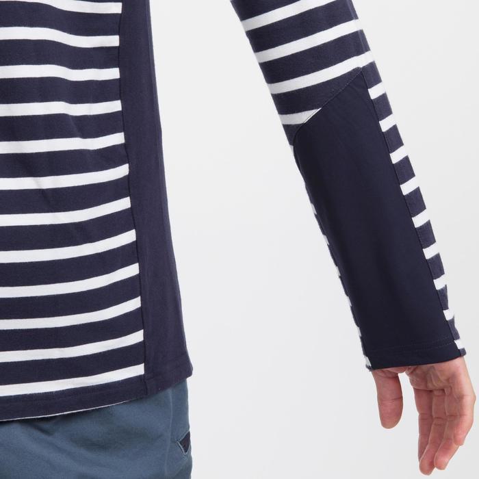 Herenshirt met lange mouwen Sailing 100 marineblauw