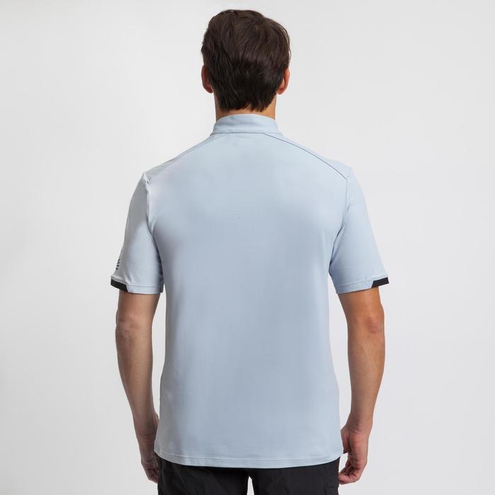 Heren T-shirt voor wedstrijdzeilen Race grijs zwart