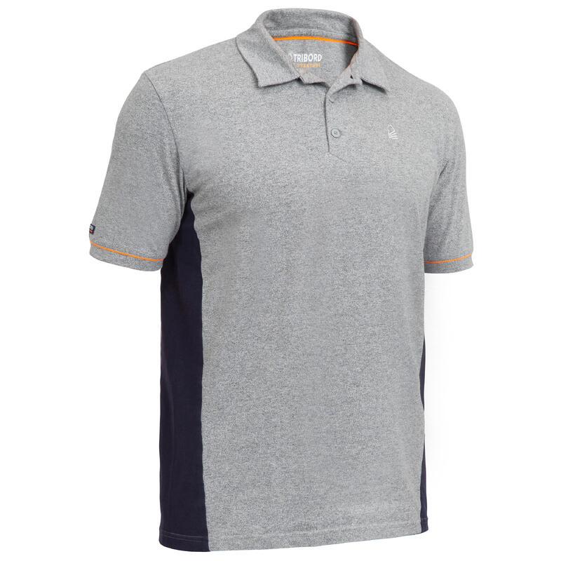 Erkek Kısa Kollu Polo Tişört - Gri - SAILING 100