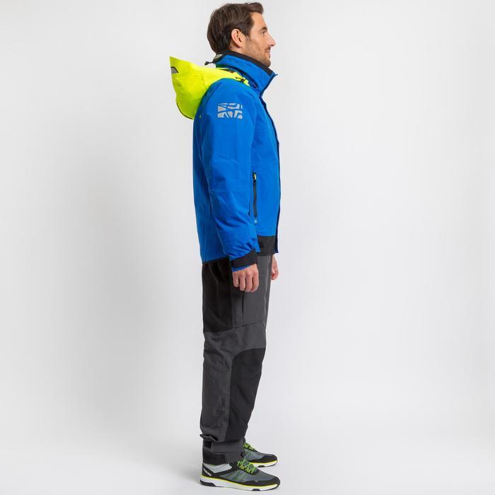 Segeljacke Blouson Race 500 Herren blau/gelb