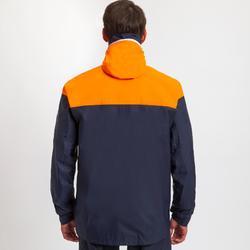 Segeljacke wasserdicht Sailing 100 Herren blau/orange