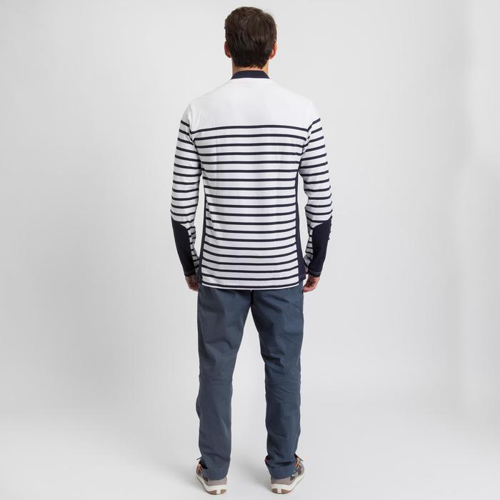 Shirt met lange mouwen voor zeilen heren Sailing 100 wit