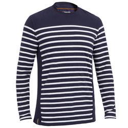 Zeilshirt met lange mouwen Sailing 100 voor heren marineblauw