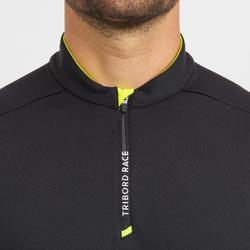 Tee-Shirts de régate bateau homme Race noir jaune
