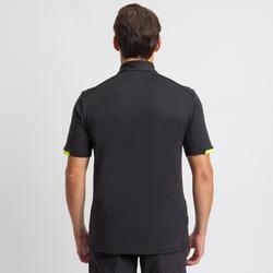 Heren T-shirt voor wedstrijdzeilen Race zwart geel