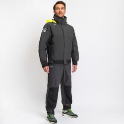 男款賽艇厚外套Race 500-灰黃配色
