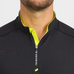 T-Shirt de voile homme Race 100 noir jaune