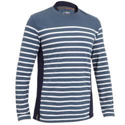 Camiseta Manga Larga Vela Tribord Sailing 100 Algodón Marinera Hombre Gris