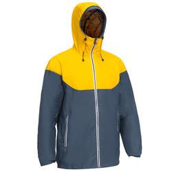 Sailing 100 Men's Waterproof Sailing Jacket - Grey Yellow